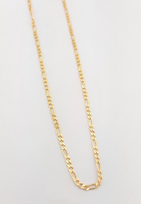 Gold Figaro Zincir Gümüş Kolye