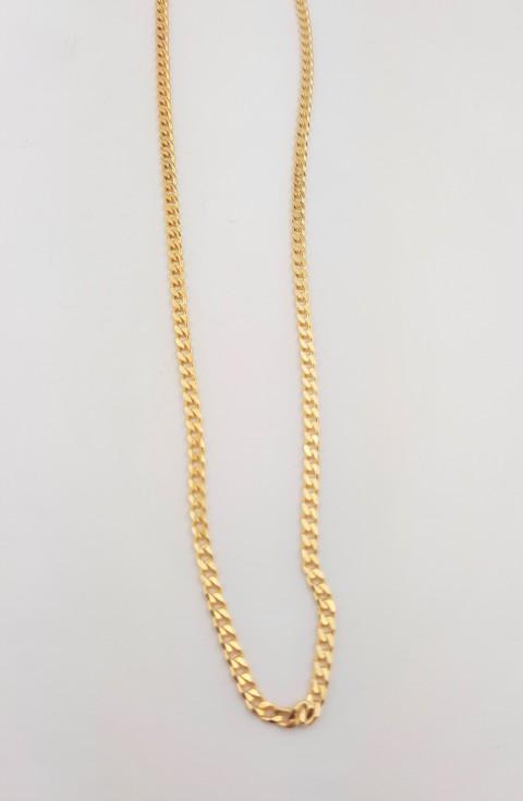 Gold Gurmet Zincir Gümüş Kolye