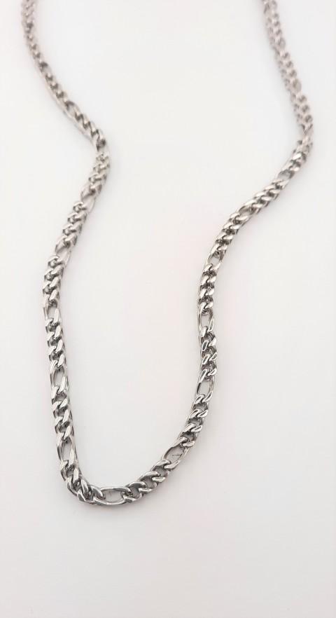 Köşeli Figaro Çelik Zincir
