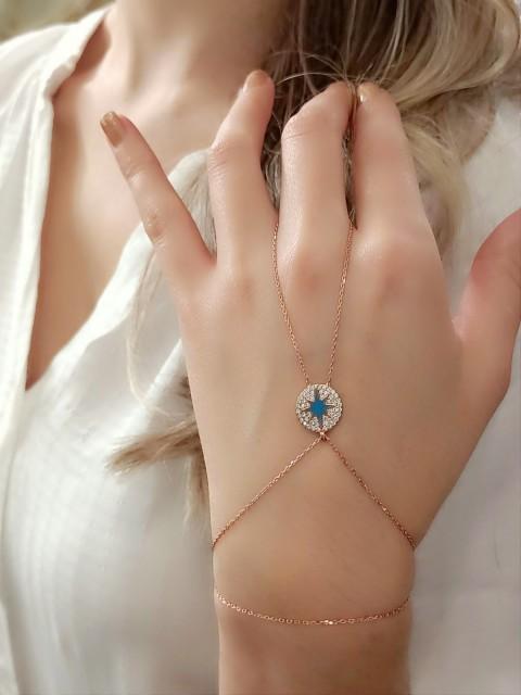 Mavi Mineli Kutup Yıldızı Gümüş Şahmeran