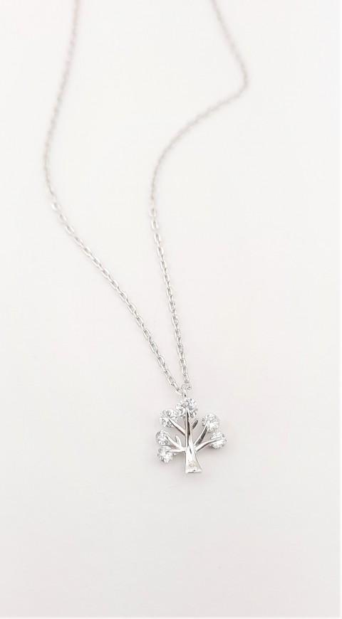 Minik Yaşam Ağacı Gümüş Kolye
