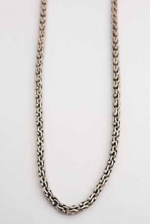 Orta Boy Arnavut Zinciri Gümüş Kolye