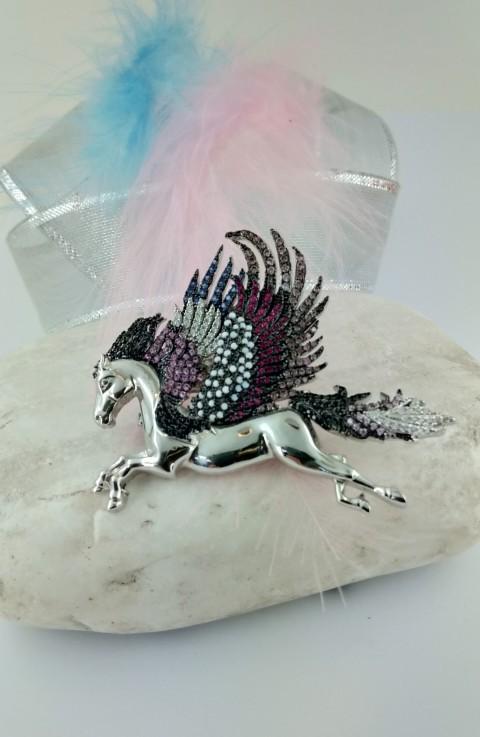 Özel Tasarım Pegasus Gümüş Broş