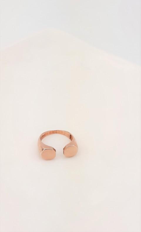 Rosegold Gümüş Serçe Parmak Yüzüğü