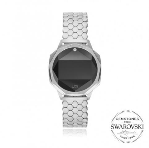Up! Watch Iconic Silver One Set With Swarovski® Topaz Kol Saati