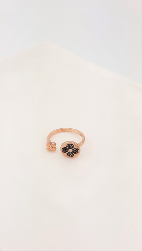 Yonca Gümüş Serçe Parmak Yüzüğü